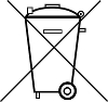 Symbol der durchgestrichenen Mülltonne gemäß BattG