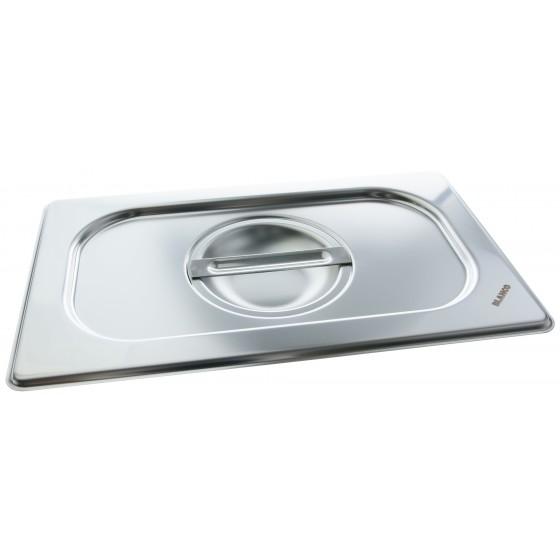 Blanco Gastronorm Edelstahl-Deckel GD 1/4 mit Griffmulde