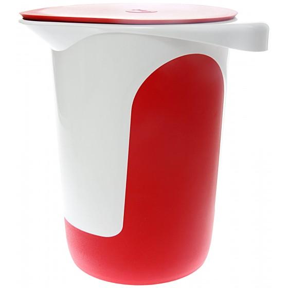 Emsa Mix & Bake Quirltopf mit Deckel 1,0 l Weiß/Rot