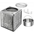 Herausnehmbarer Edelstahl-Behälter der Unold Eismaschine Profi