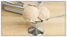 Rezept für cremiges Sahneeis: Portioniertes Eis